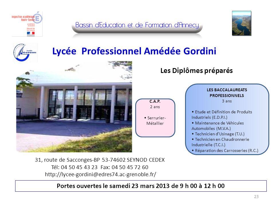 Lycée Professionnel Amédée Gordini