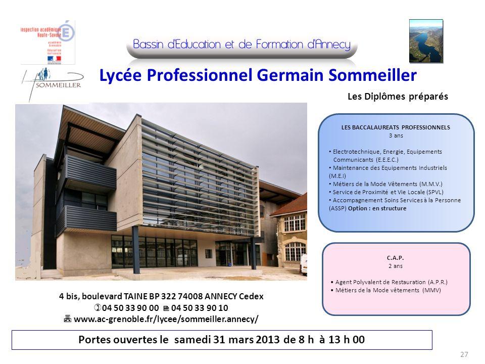 Lycée Professionnel Germain Sommeiller