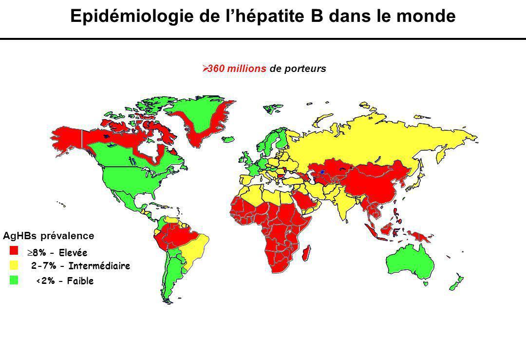Epidémiologie de l'hépatite B dans le monde