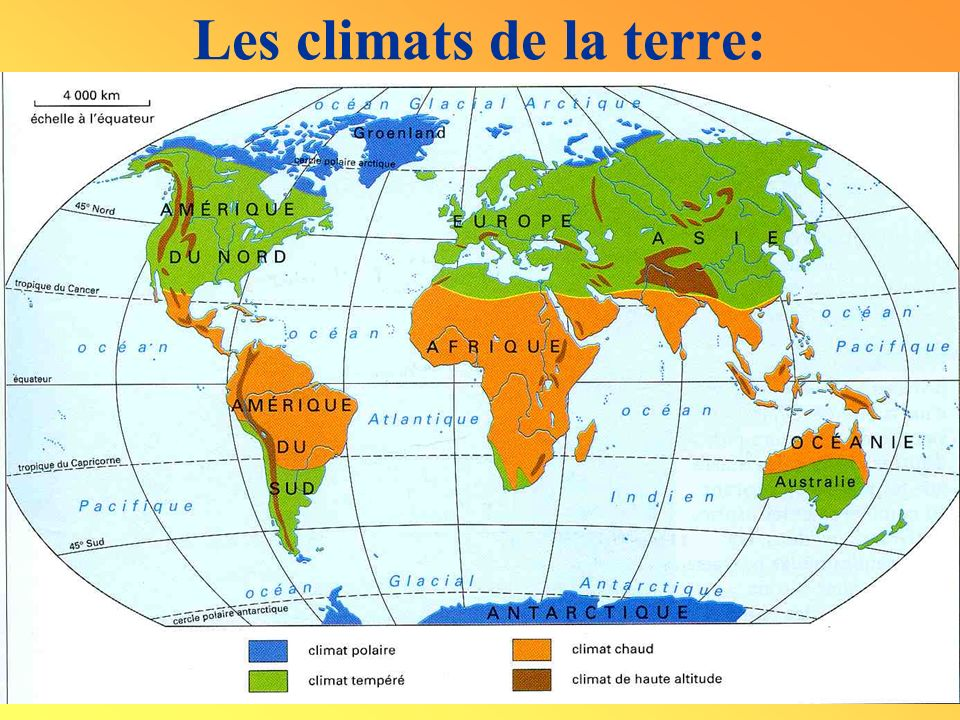 Les climats de la terre: