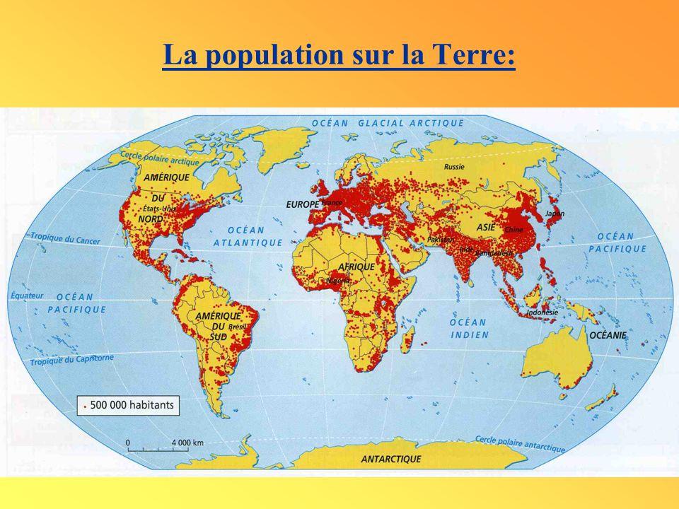 La population sur la Terre: