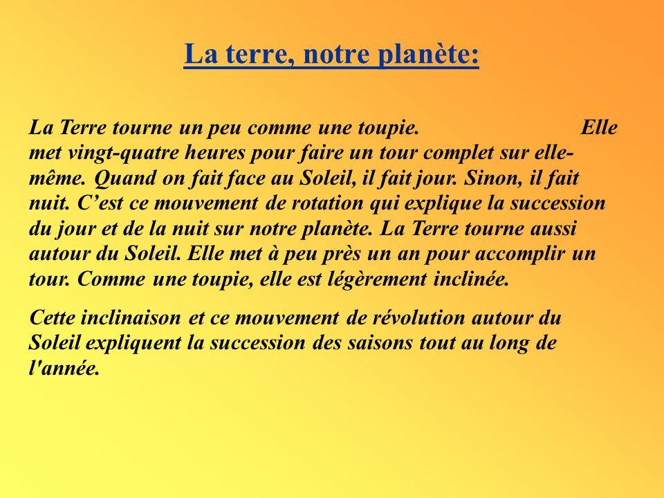 La terre, notre planète: