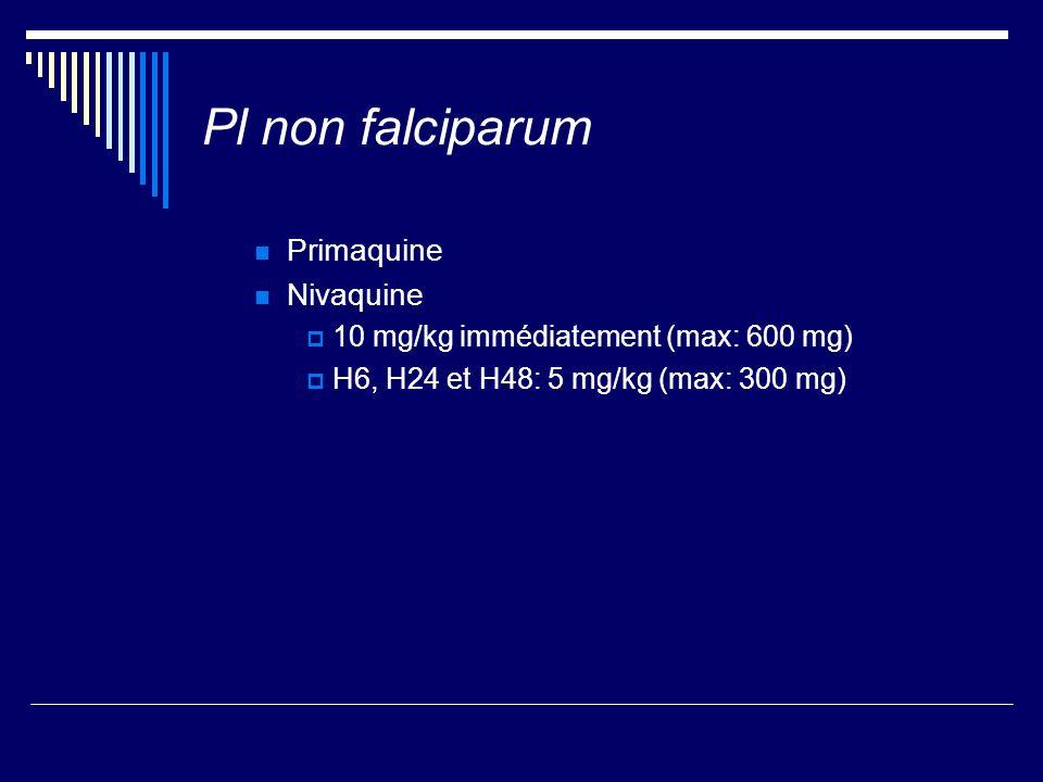 Pl non falciparum Primaquine Nivaquine