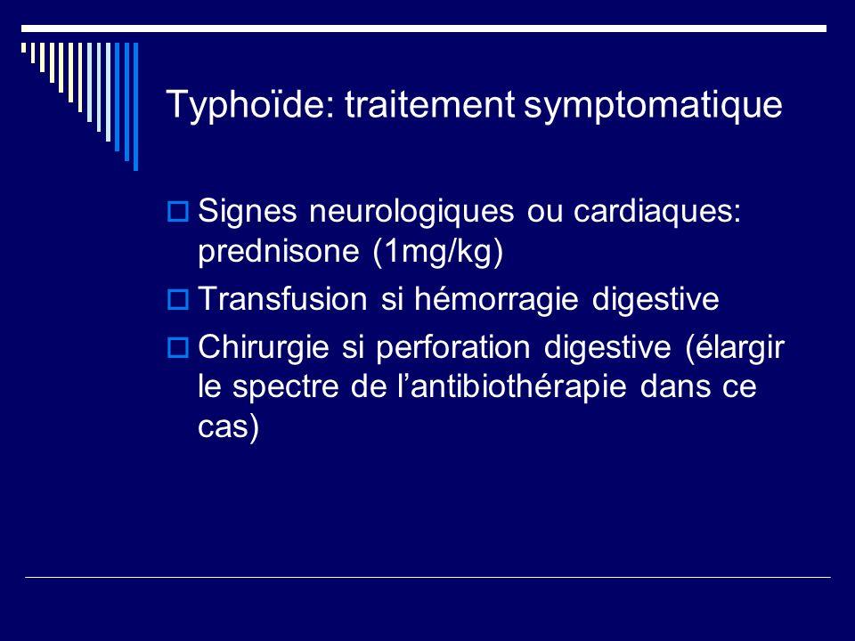 Typhoïde: traitement symptomatique