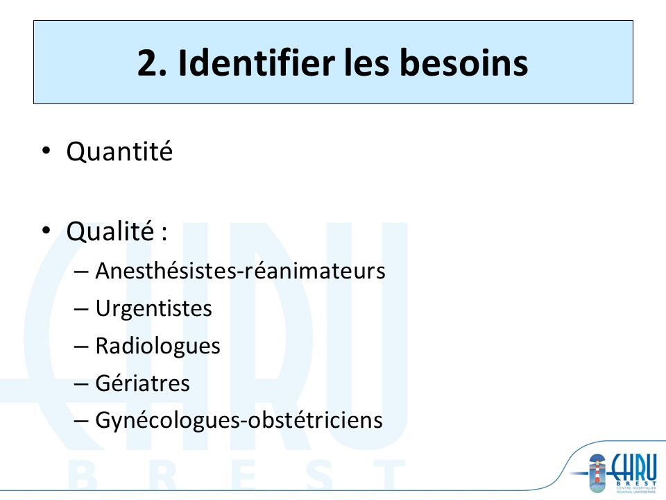 2. Identifier les besoins