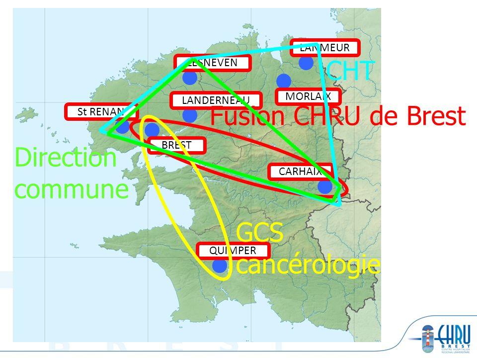 CHT Fusion CHRU de Brest Direction commune GCS cancérologie LANMEUR