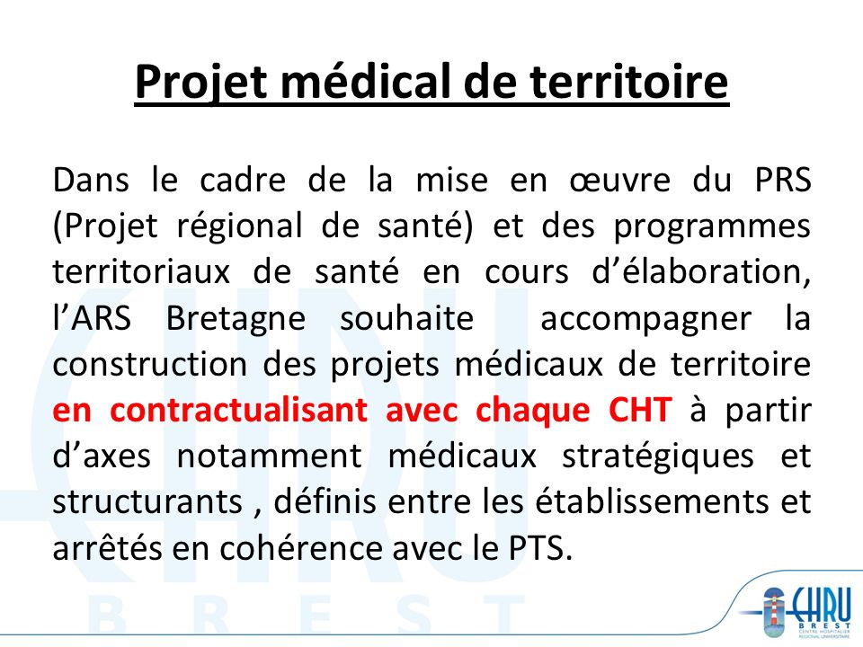 Projet médical de territoire