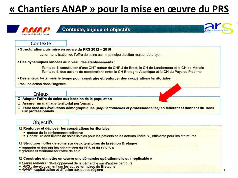 « Chantiers ANAP » pour la mise en œuvre du PRS