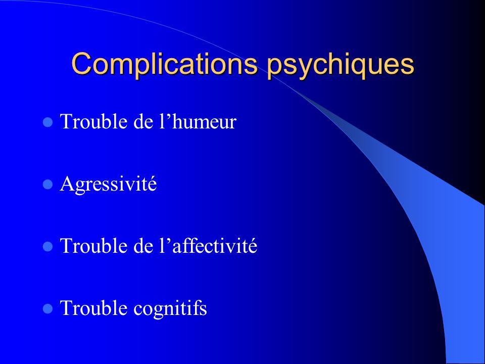 Complications psychiques