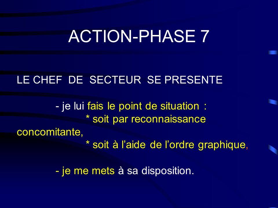 ACTION-PHASE 7 LE CHEF DE SECTEUR SE PRESENTE