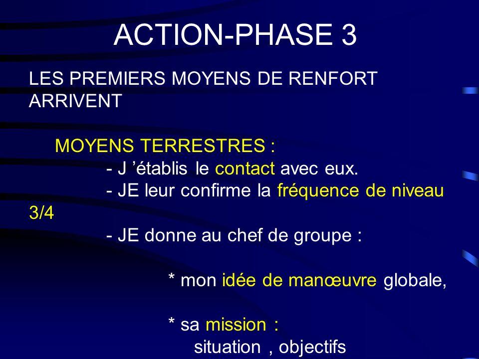 ACTION-PHASE 3 LES PREMIERS MOYENS DE RENFORT ARRIVENT