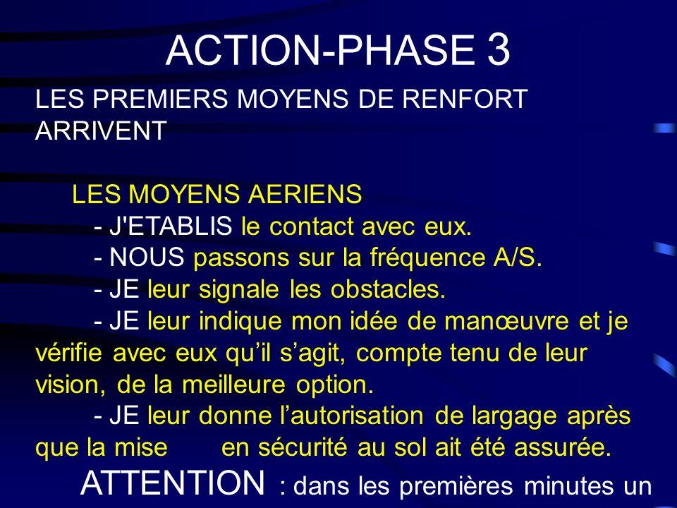 ACTION-PHASE 3 ATTENTION : dans les premières minutes un avion peut
