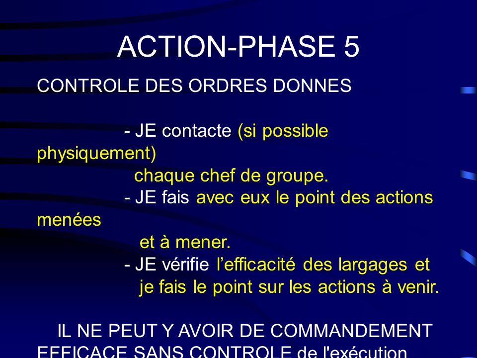 ACTION-PHASE 5 CONTROLE DES ORDRES DONNES