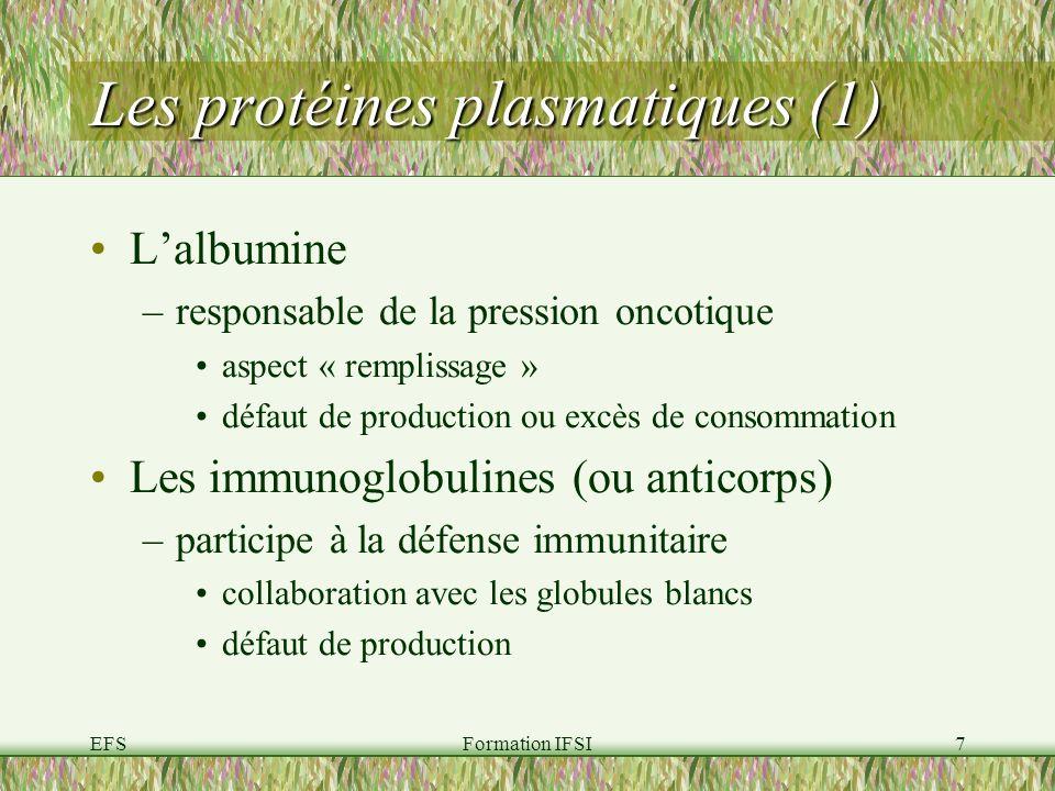 Les protéines plasmatiques (1)