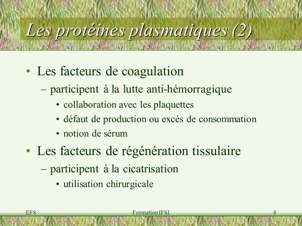 Les protéines plasmatiques (2)