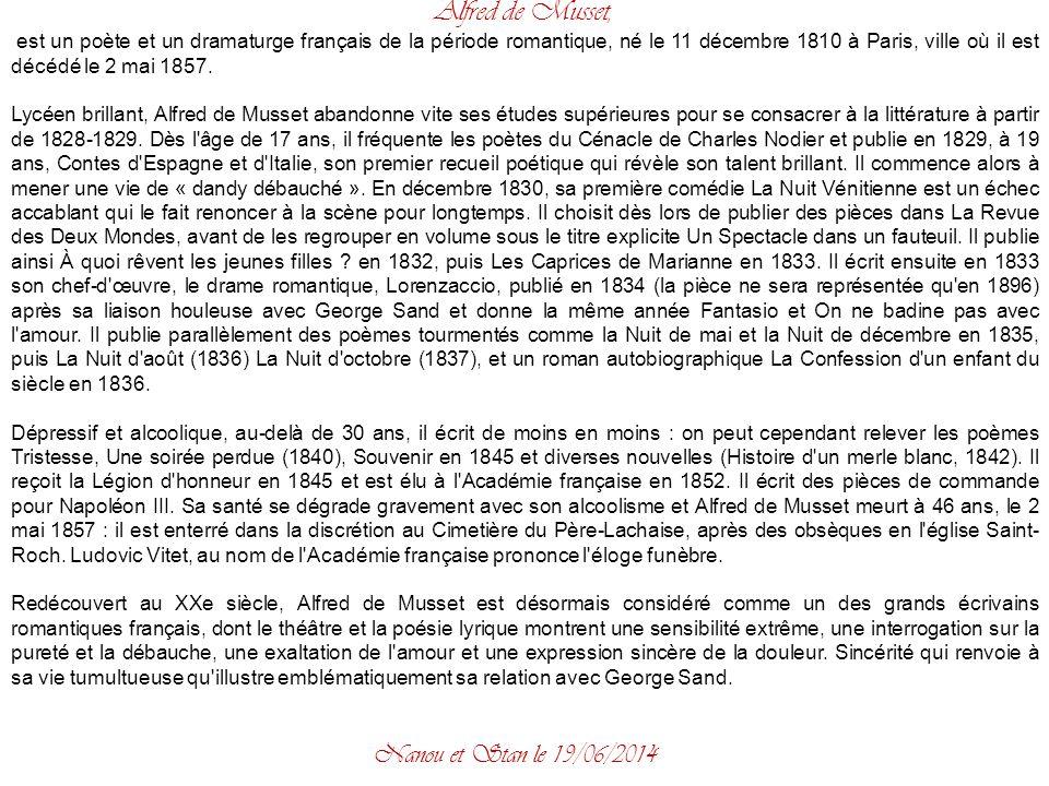 Alfred de Musset, Nanou et Stan le 02/04/2017