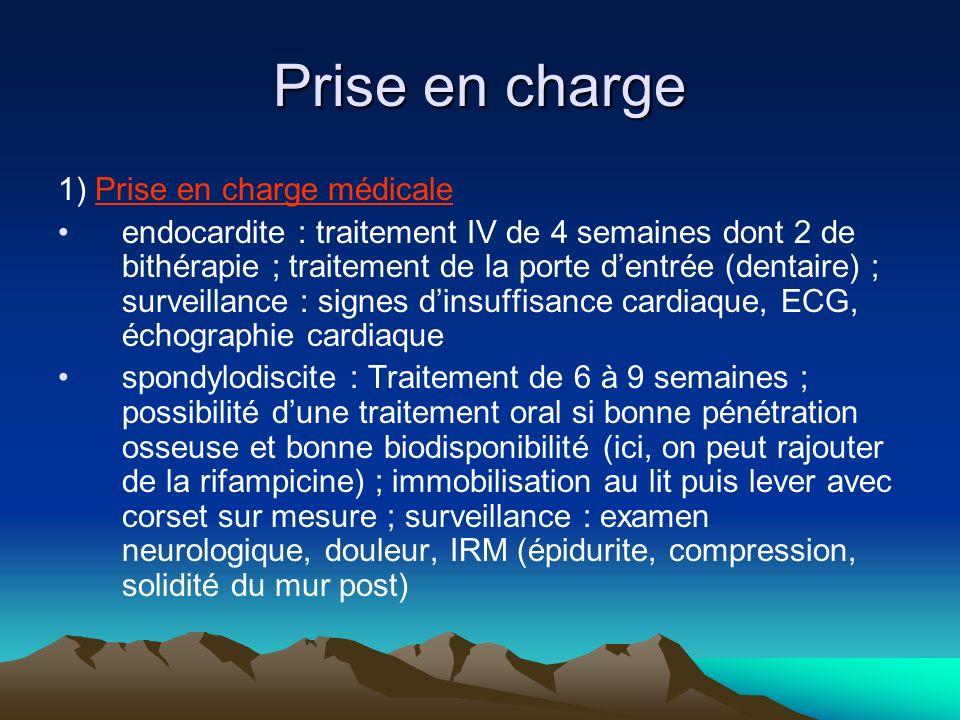 Prise en charge 1) Prise en charge médicale
