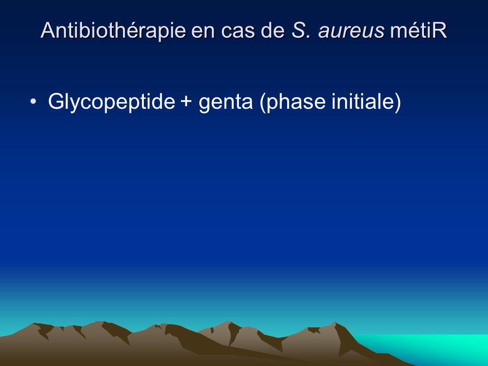 Antibiothérapie en cas de S. aureus métiR