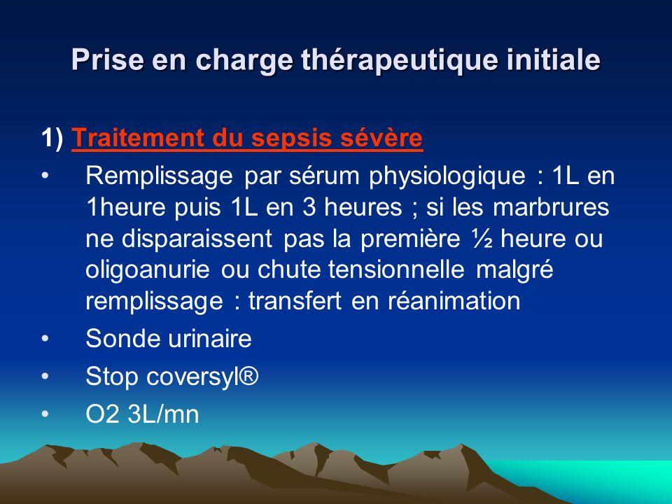 Prise en charge thérapeutique initiale