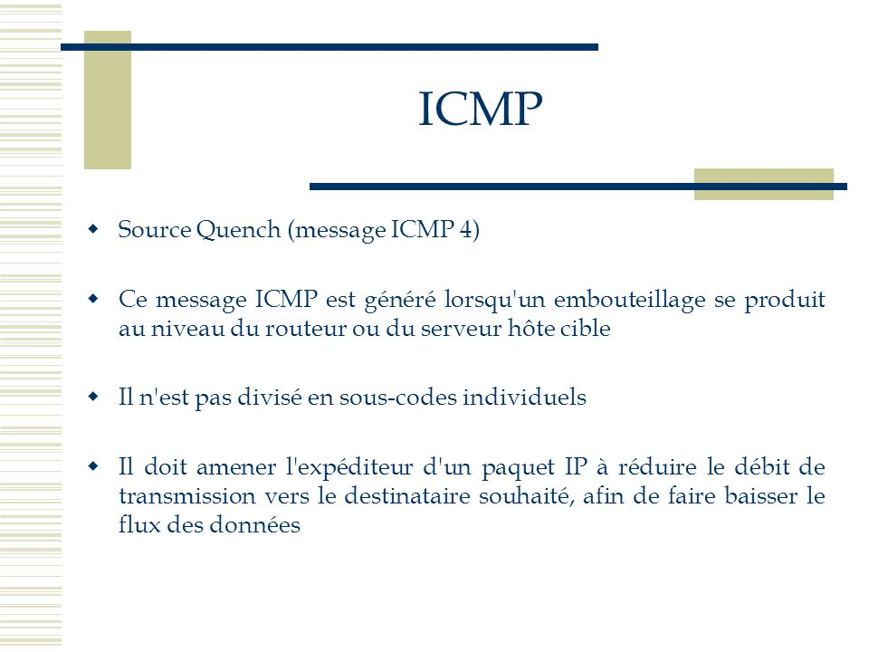 ICMP Source Quench (message ICMP 4)