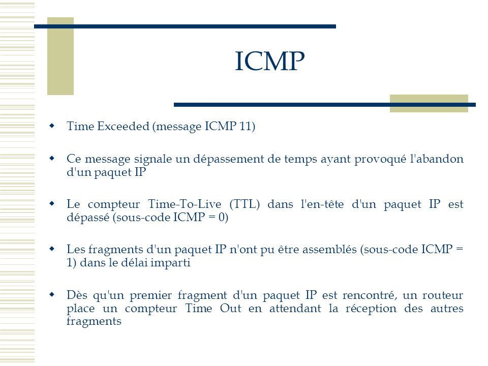 ICMP Time Exceeded (message ICMP 11)
