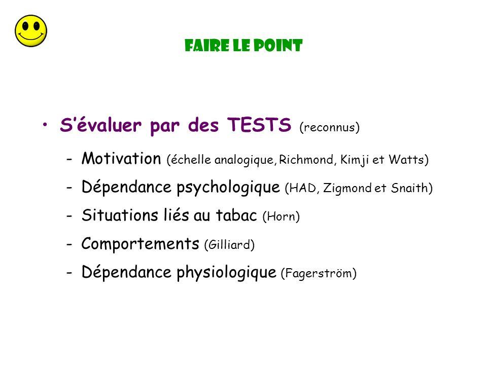 S'évaluer par des TESTS (reconnus)