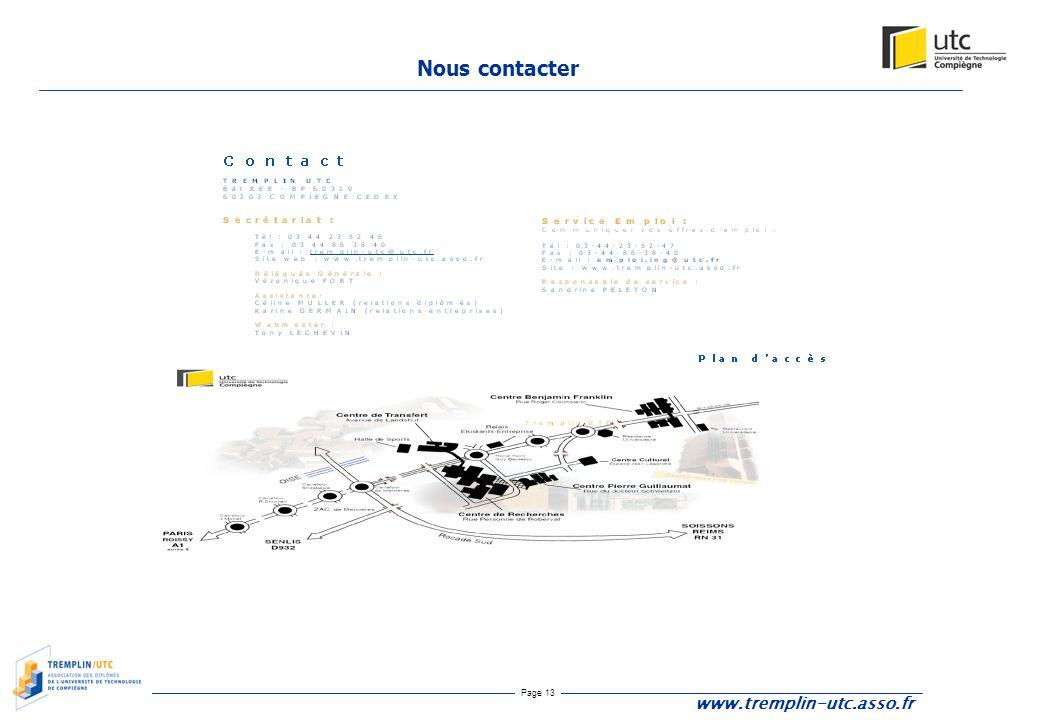 Nous contacter www.tremplin-utc.asso.fr
