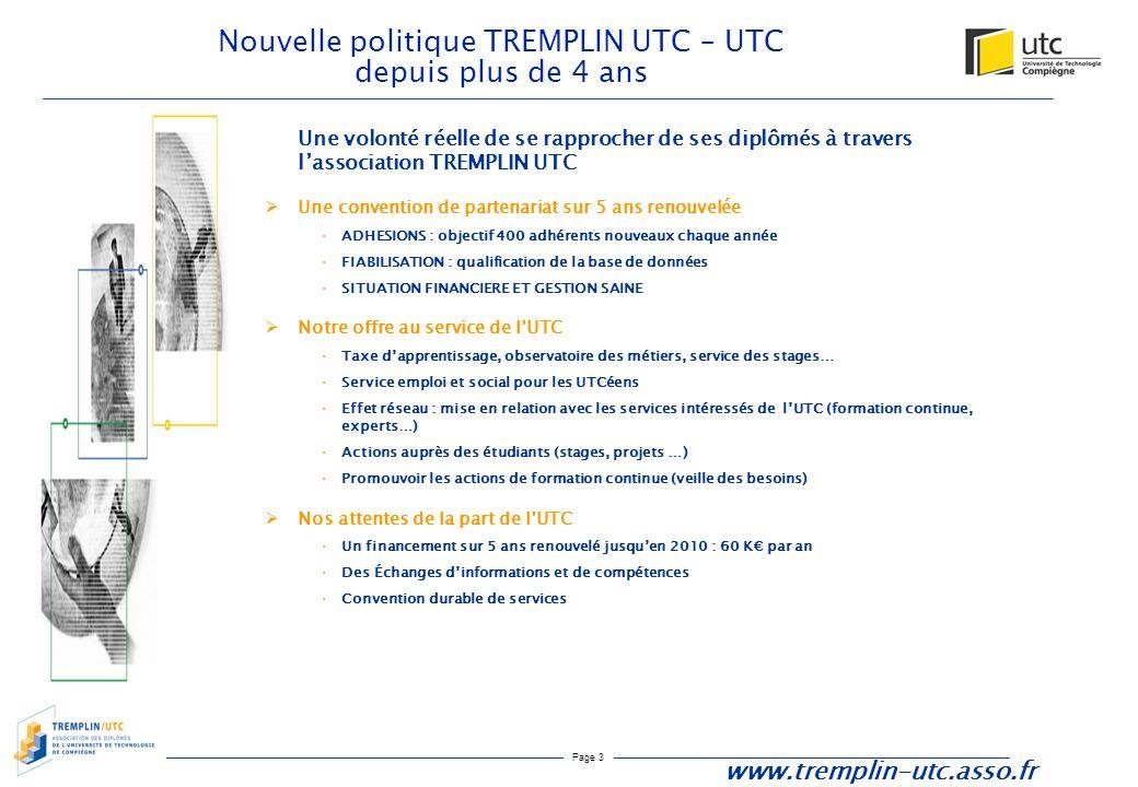 Nouvelle politique TREMPLIN UTC – UTC depuis plus de 4 ans