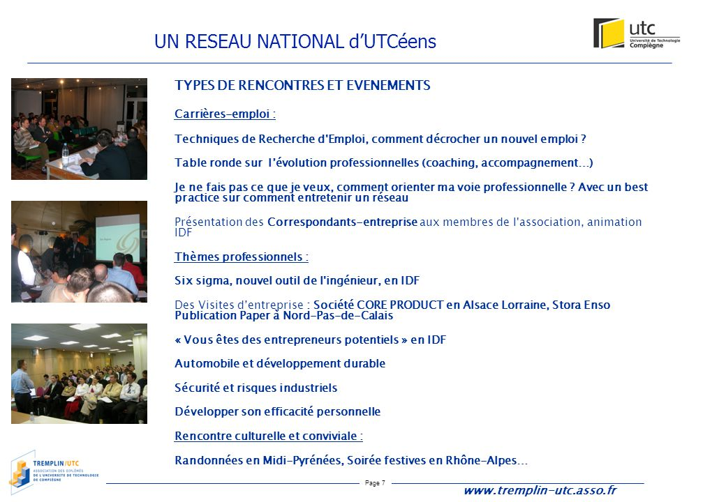 UN RESEAU NATIONAL d'UTCéens