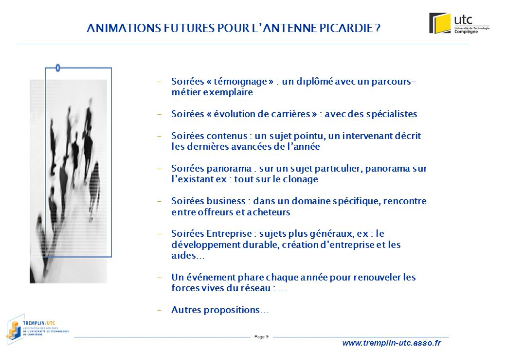 ANIMATIONS FUTURES POUR L'ANTENNE PICARDIE