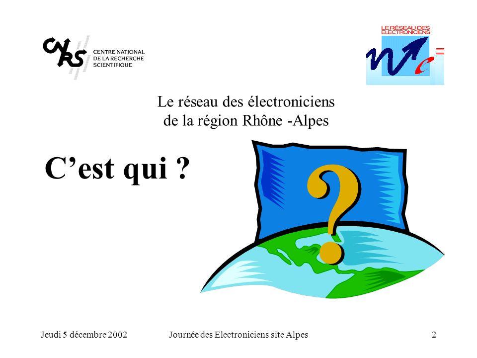 C'est qui Le réseau des électroniciens de la région Rhône -Alpes