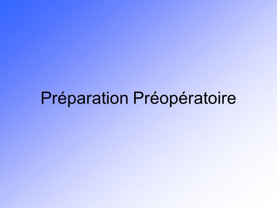 Préparation Préopératoire