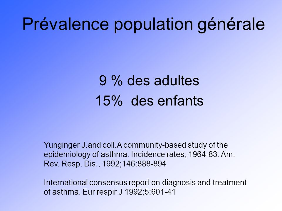 Prévalence population générale