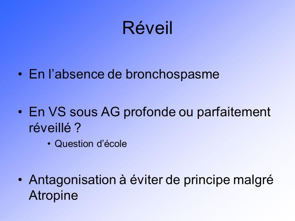 Réveil En l'absence de bronchospasme