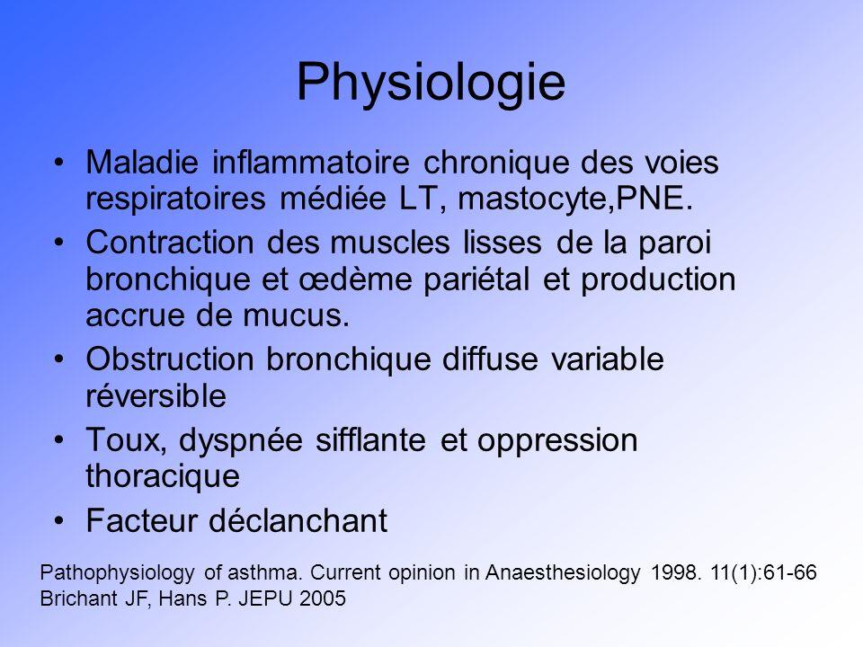 Physiologie Maladie inflammatoire chronique des voies respiratoires médiée LT, mastocyte,PNE.
