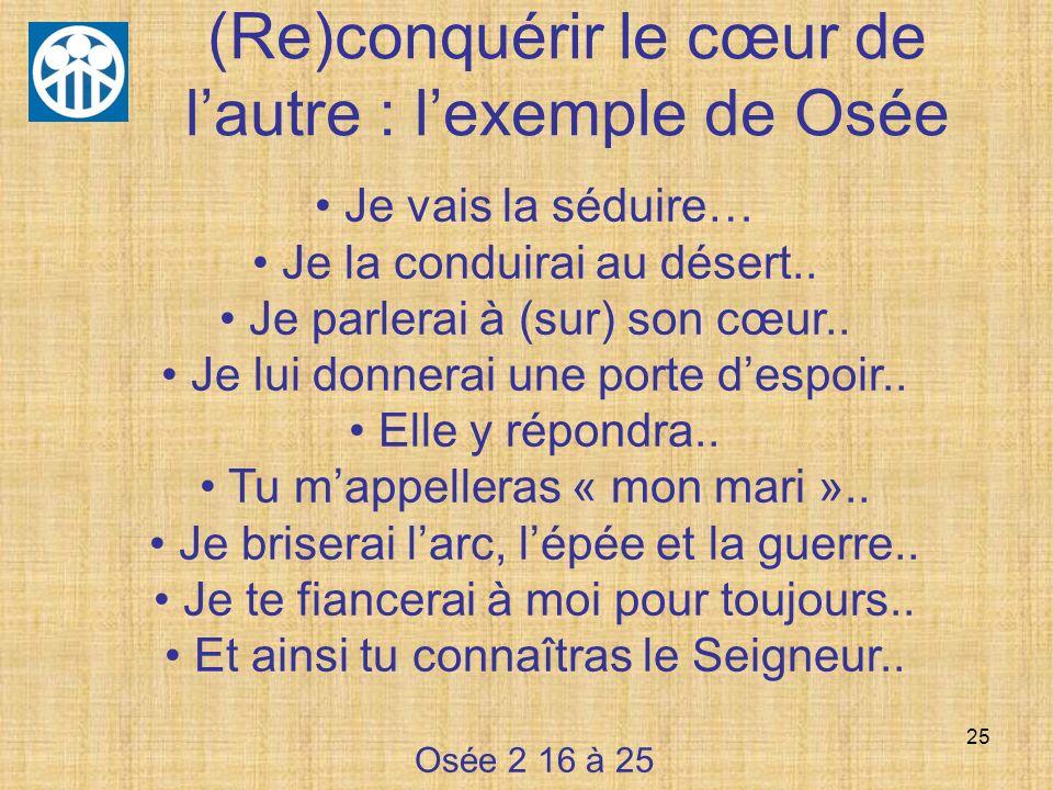 (Re)conquérir le cœur de l'autre : l'exemple de Osée