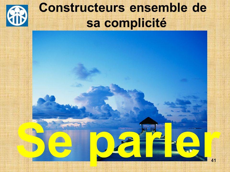 Constructeurs ensemble de sa complicité