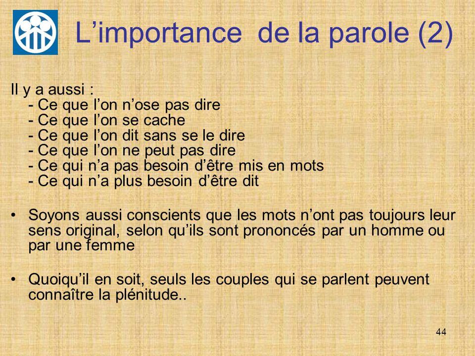 L'importance de la parole (2)