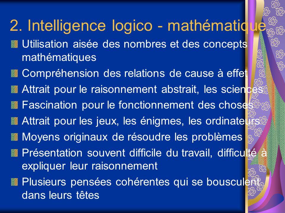 2. Intelligence logico - mathématique