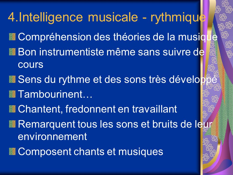 4.Intelligence musicale - rythmique
