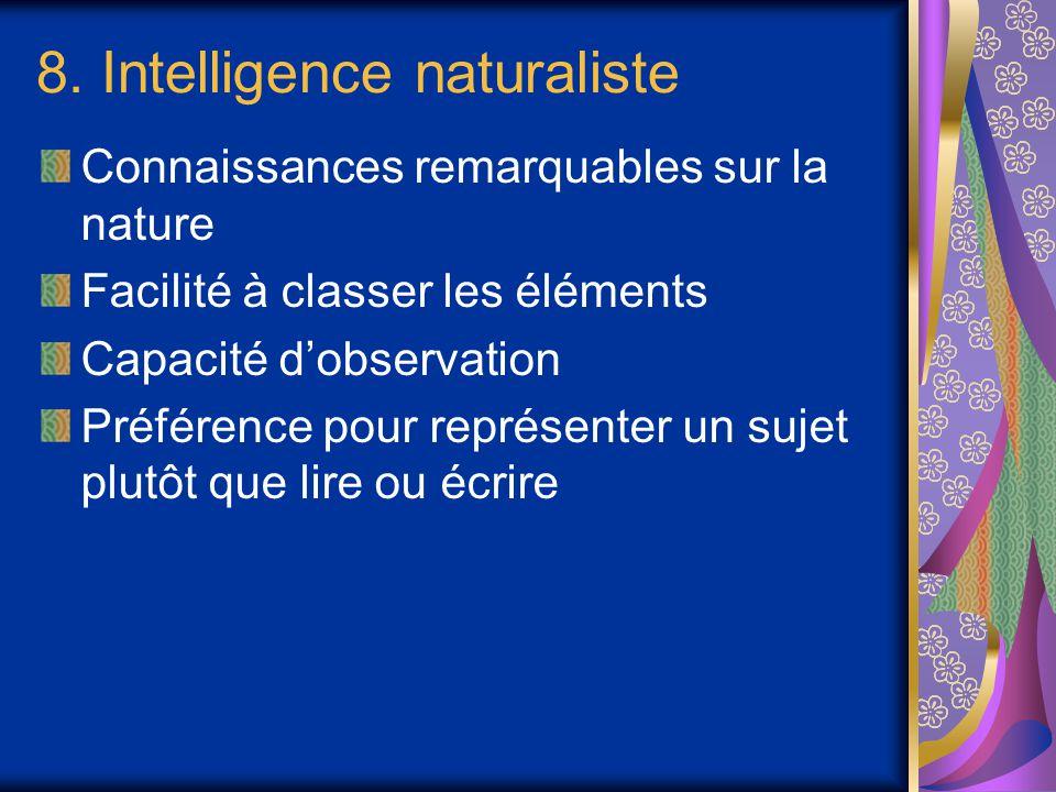 8. Intelligence naturaliste