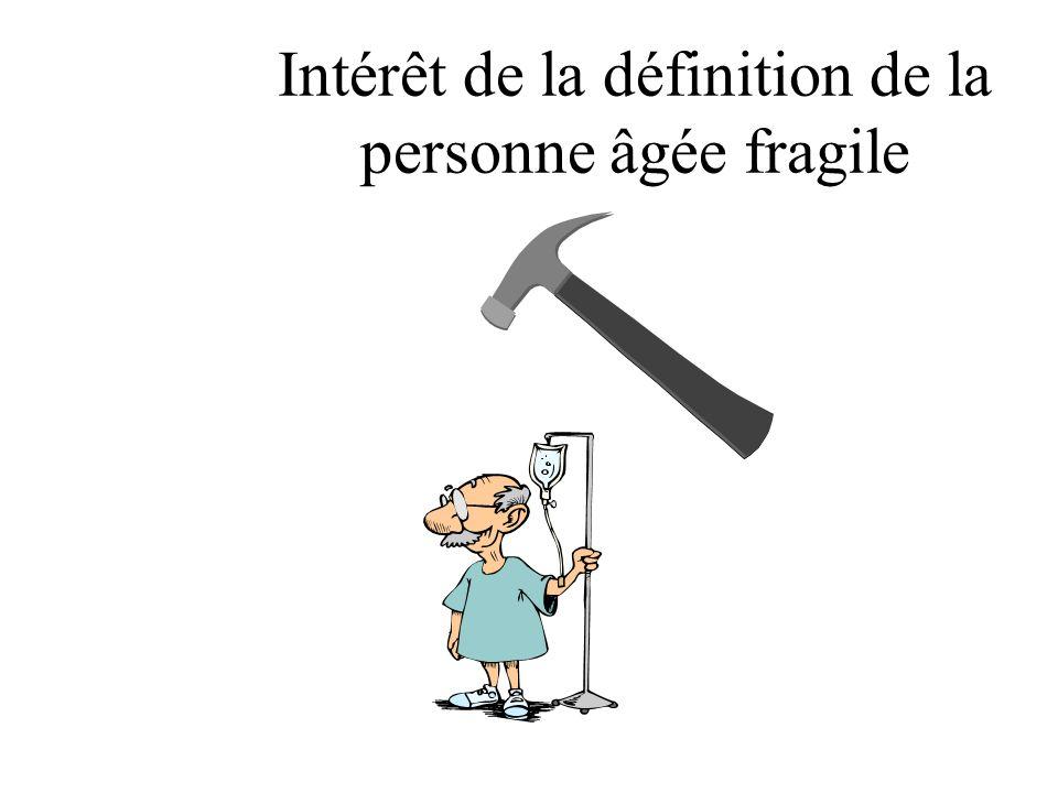 Intérêt de la définition de la personne âgée fragile