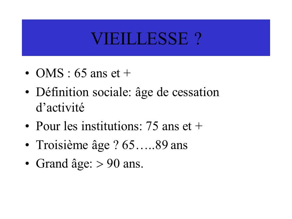 VIEILLESSE OMS : 65 ans et +