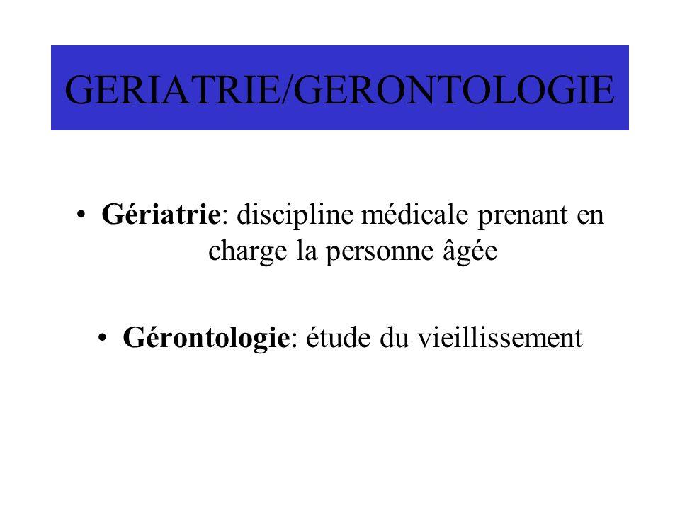 GERIATRIE/GERONTOLOGIE