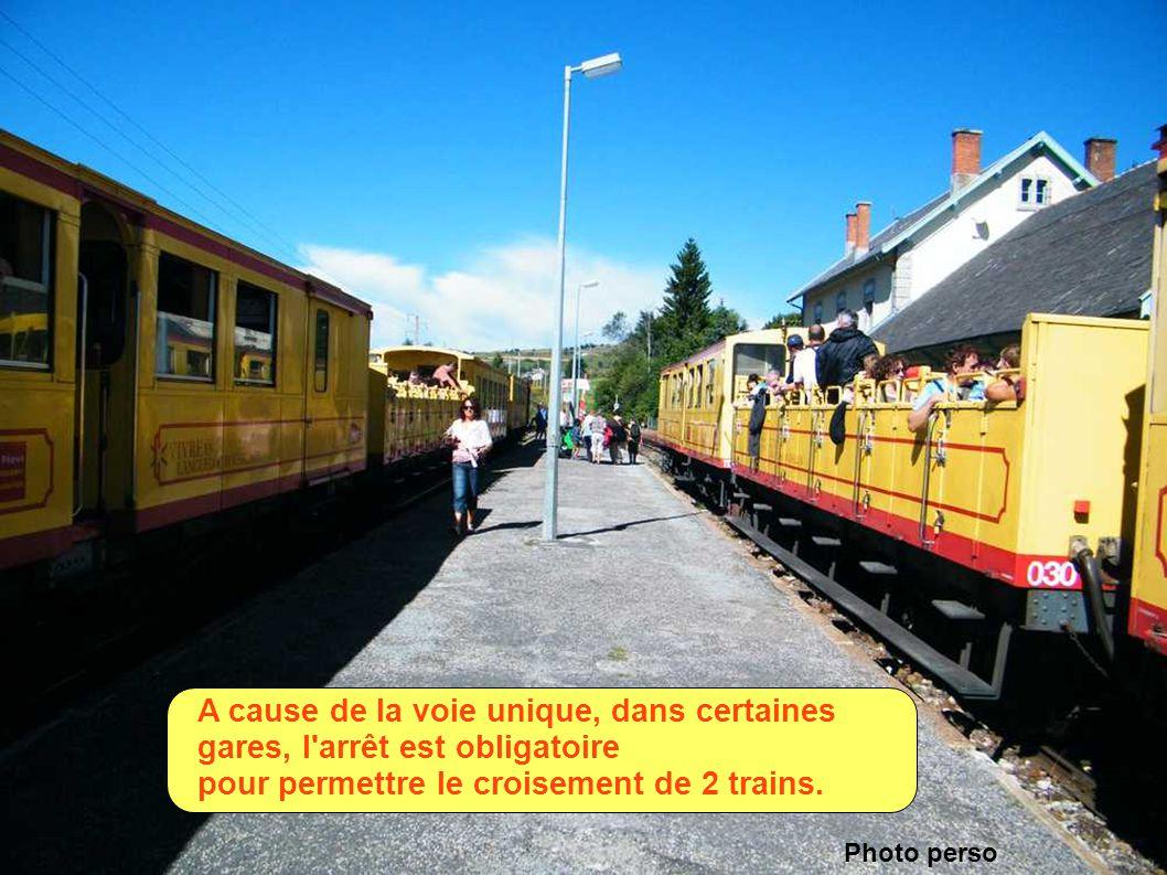 pour permettre le croisement de 2 trains.