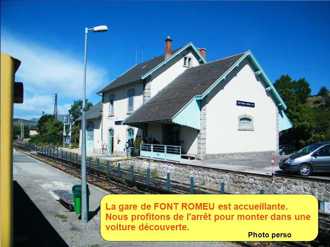 La gare de FONT ROMEU est accueillante.
