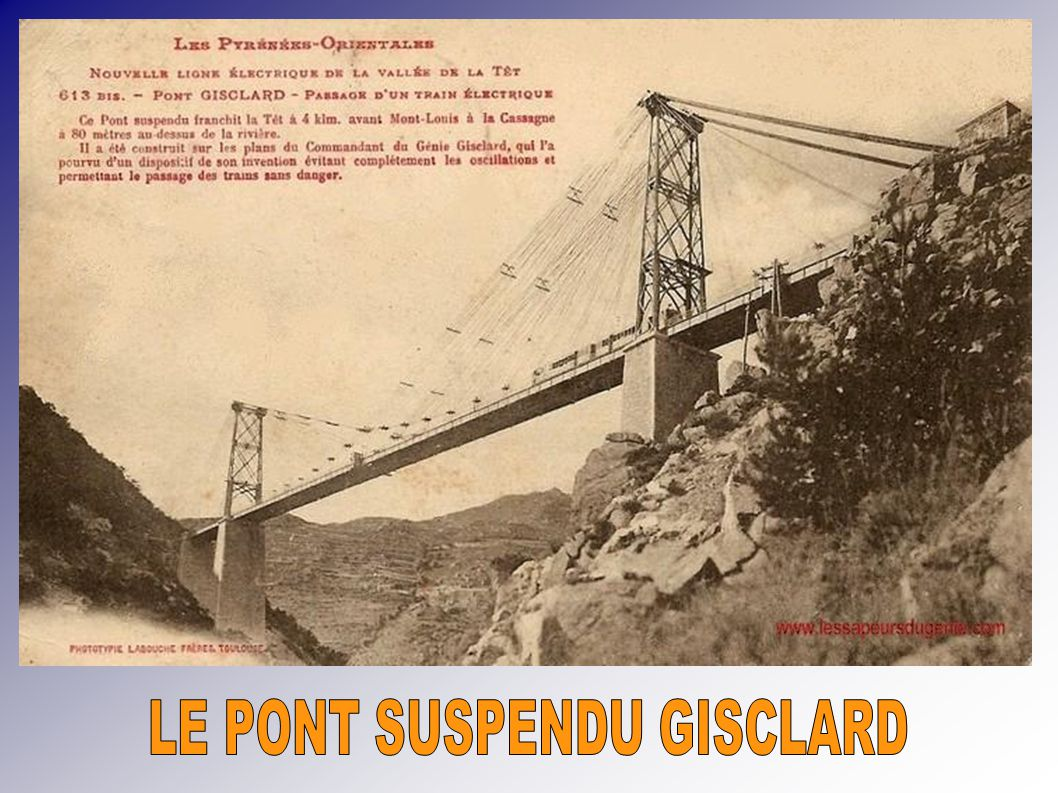 LE PONT SUSPENDU GISCLARD