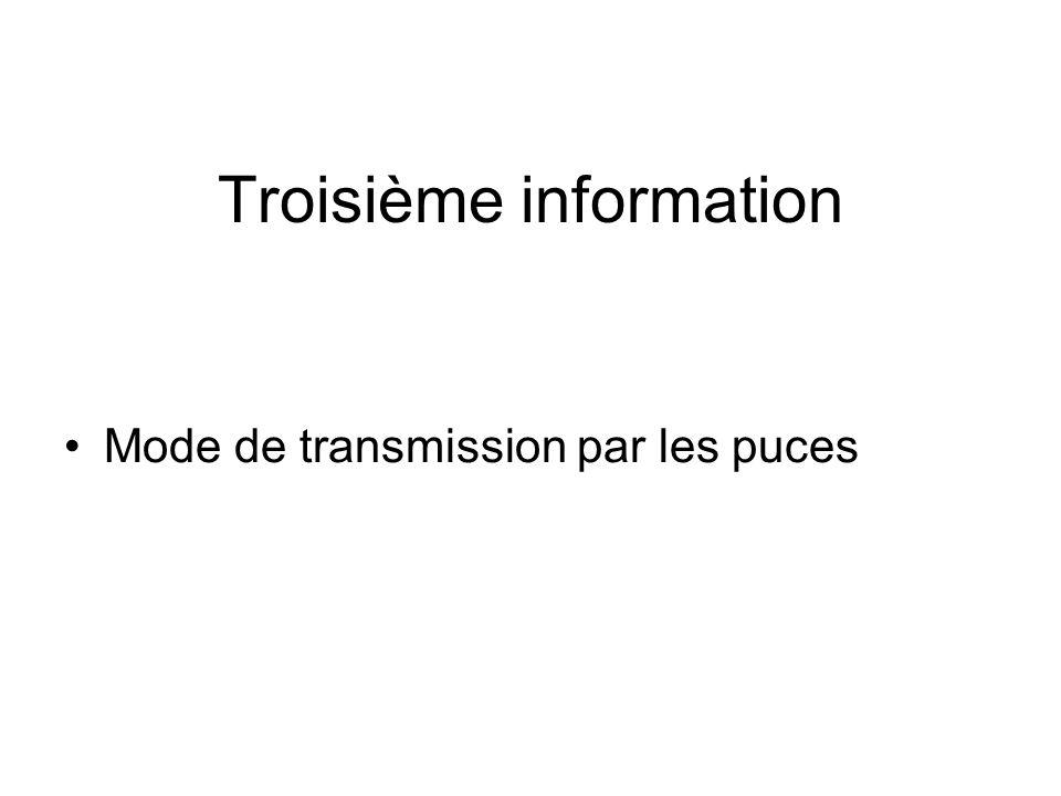 Troisième information
