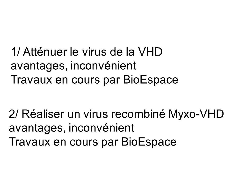 1/ Atténuer le virus de la VHD