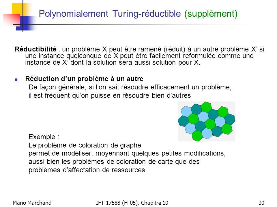 Polynomialement Turing-réductible (supplément)